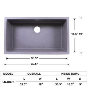 Composite Gray Single Tub