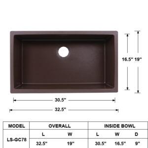 Single Bowl Granite Composite Sink Coffee